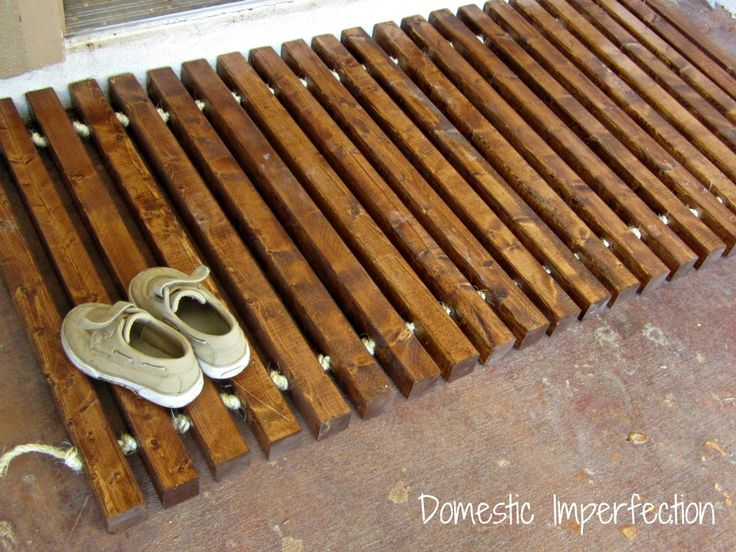 Wooden Welcome Mat Also A Nice Style For Hanging Screens