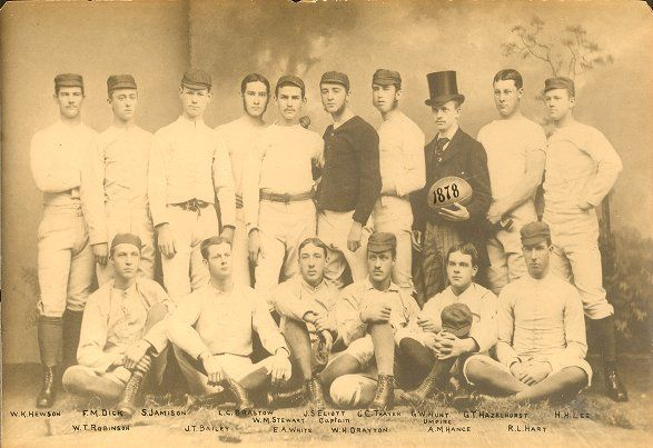 UPenn Football, 1878 team, group photograph