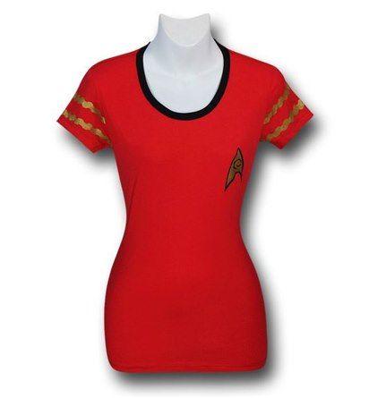Images of Star Trek Women's Security Uniform Ringer T-Shirt... for me!