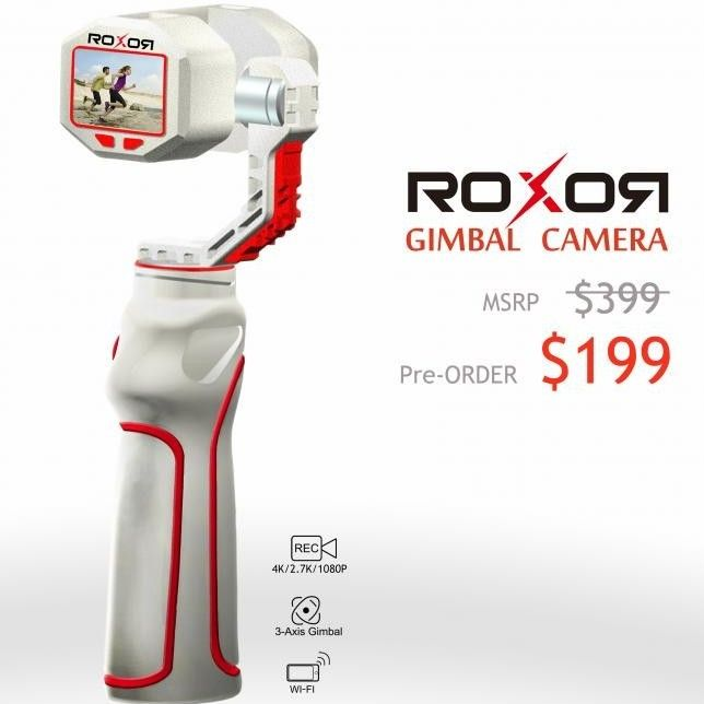 Watch Out DJI OSMO – the New ROXOR 4K Gimbal Camera is Just $199