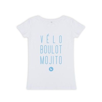 Les Petits Frenchies T-shirt femme VELO BOULOT MOJITO. Retrouvez le en soldes au showroom et sur l'eshop !!