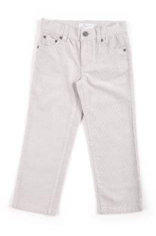 Pantalón para niño, confeccionado en corduroy color gris.