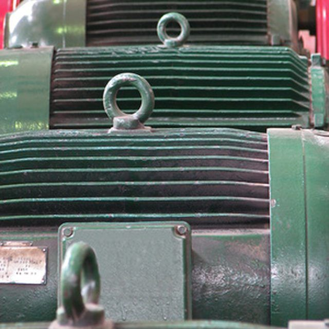 Large industrial motors are checked and overhauled many times.