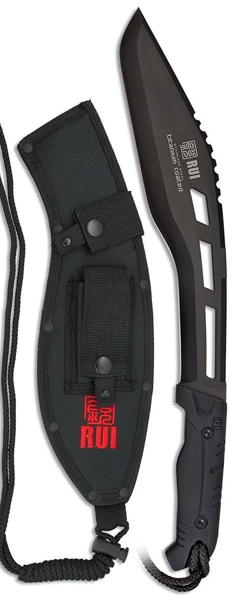 RUI Tactical Kukri Machete Fixed Blade Knife