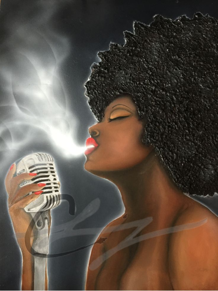 "fyblackwomenart:  ""Fire in her soul""     by: claingart   Instagram  claingart Oil on canvas for sale"