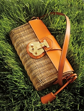 Talbots Beacon Hill Straw Shoulder Bag 23