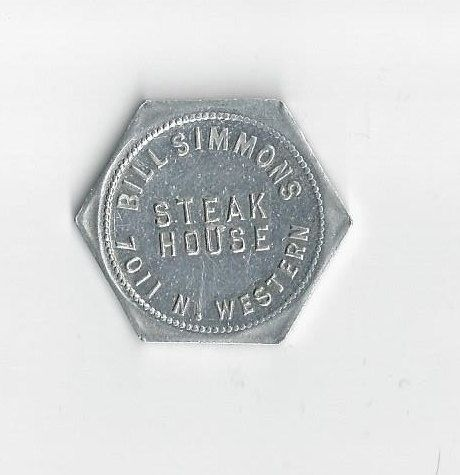 1940's Bill Simmons Steak House Chicago, Illinois token by COLLECTORSCENTER on Etsy