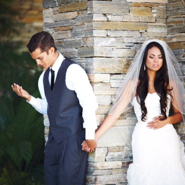 I am absolutely in love with this wedding. They wanted to pray together before the wedding, but not see each other. Nothing is better than his reaction when he sees her for the first time. Check out the link for all the photos.  Simply wonderful.   http://joshelliottstudios.com/cami-erik-married/