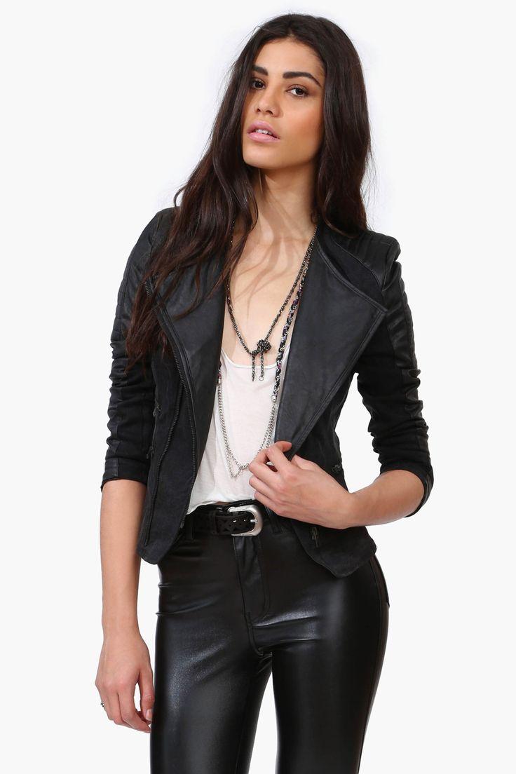 Leather jacket killer b&q - Night Rider Leather Jacket In Black