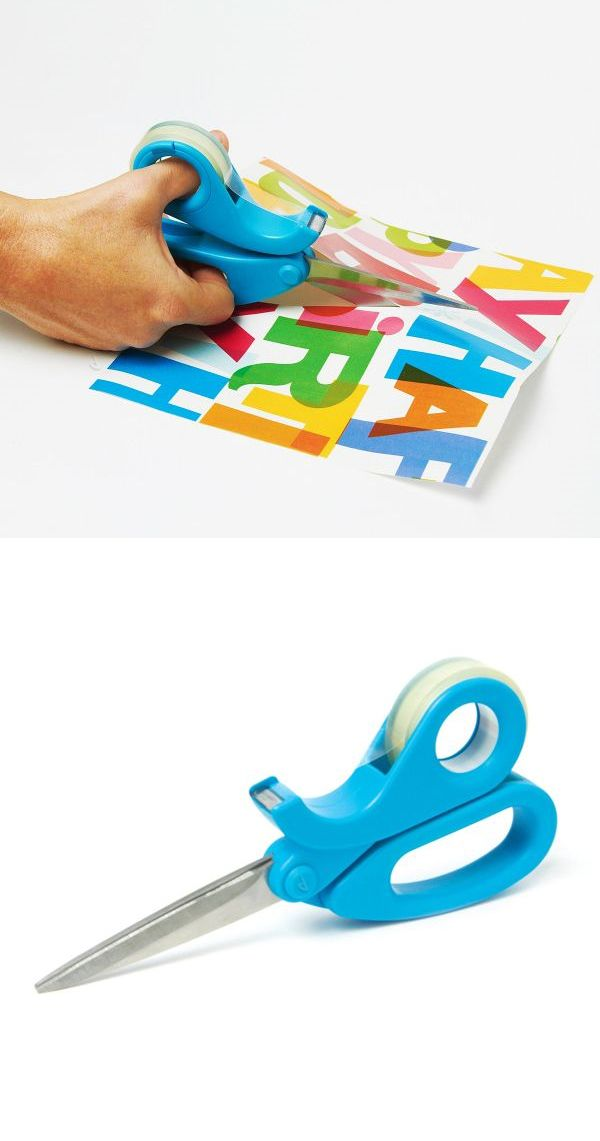 Scissortape // Scissors and tape dispenser all in one! Genius product, for wrapping gifts! #product_design