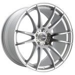 Konig Wheels 19S TORCH Silver Machined Face with Ball Milled Accents