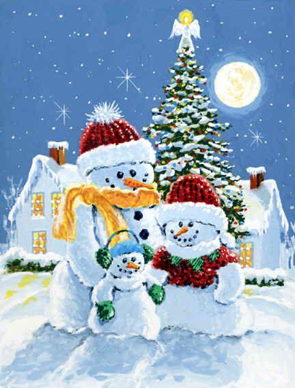 "snowman | Snowman Family Christmas"" by Richard De Wolfe"