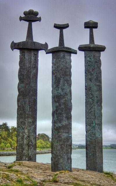 Viking Swords at Stavanger Swords Monument by Jim Boud, via Flickr