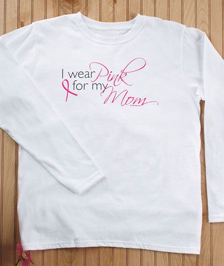 Women's Breast Cancer Awareness T-Shirts The Lakeside Collection.  Want to get these for my sisters!