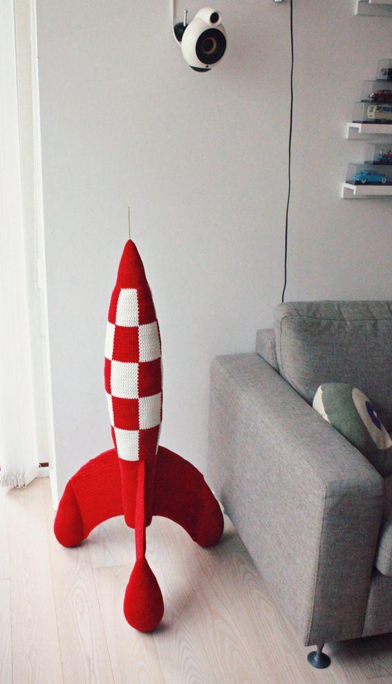 Lutter Idyl: TinTin - Hæklet Raket / Crochet Rocket