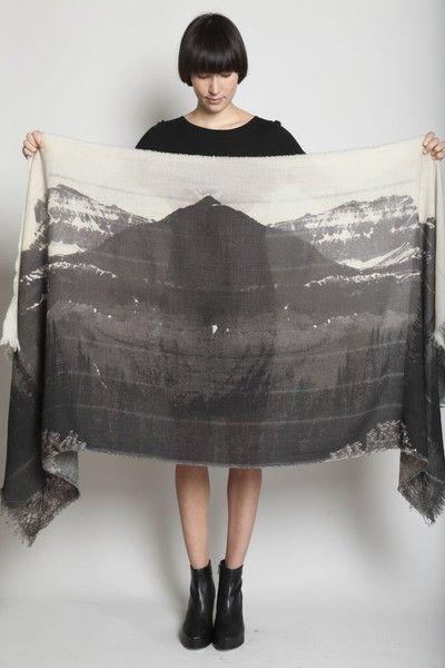 Mountain-Print Scarf
