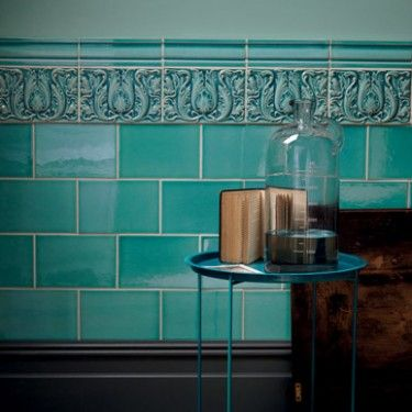 Fired Earth's London Underground collection based on some of the Tube's best tilework ~ Edwardian Collection