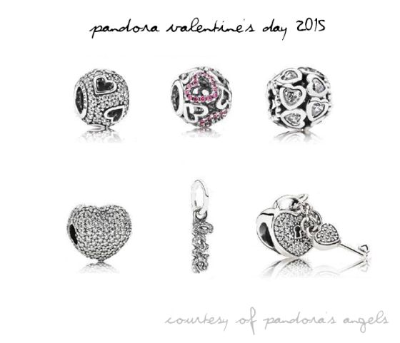 pav charms from the pandora valentines day 2015 collection - Pandora Valentine Bracelet