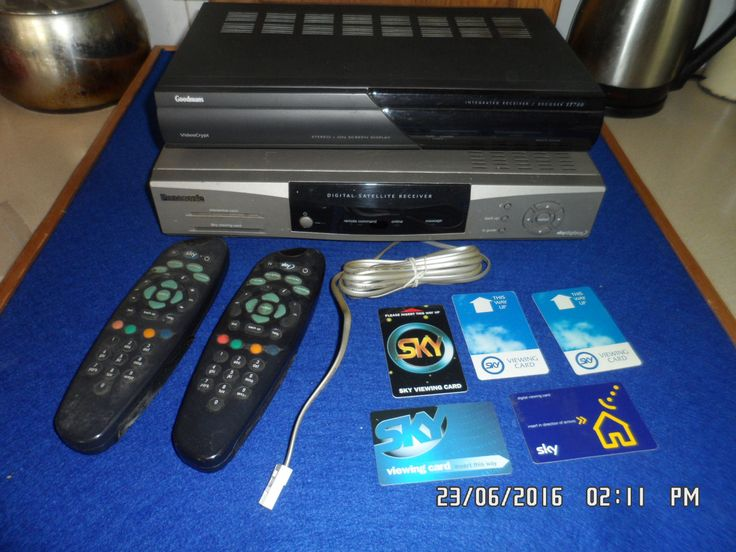old satellite receiver box 90's