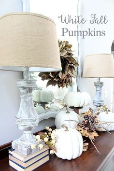 How to paint faux pumpkins for a light and bright fall idea at Refresh Restyle