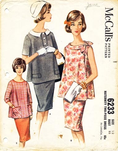 Vintage Maternity Pattern: want!
