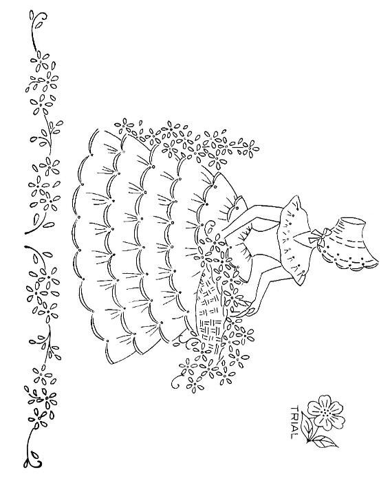 17 best images about embroidery colonial ladies on for Southern belle coloring pages
