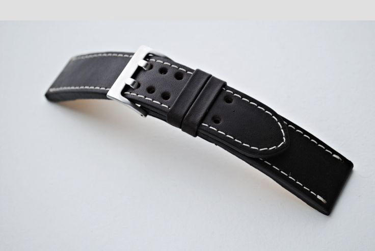 Hamilton 22 mm Dark Brown Custom Handmade Leather Watch Strap - More sizes & colors on order by ChristianStraps on Etsy