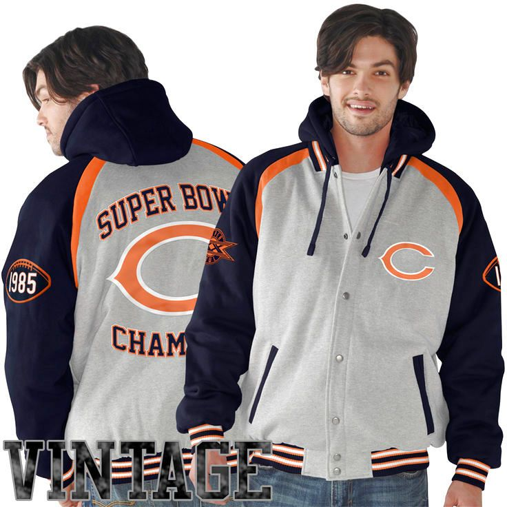 Chicago Bears Rookie of the Year Super Bowl Champions Commemorative Jacket - Ash/Navy Blue - $106.39