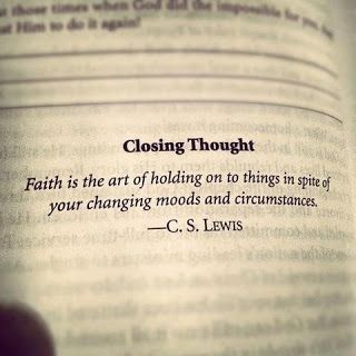 C.S. Lewis: the same could be said about a good relationship. Don't give up because of hard times, grow stronger together!