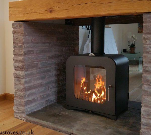 Double Sided Woodburning Stove Vesta V12 12kw Made In Uk Double Sided Stove Wood Stove Wood Burning Stove