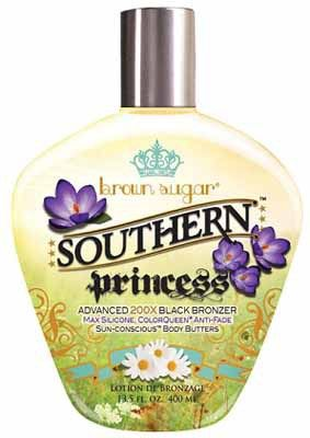 Brown Sugar Southern Princess Advanced 200X Black Bronzer with Max Silicone, Color Queen Anti-Fade Sun-Concious Butter Blend Tanning Lotion