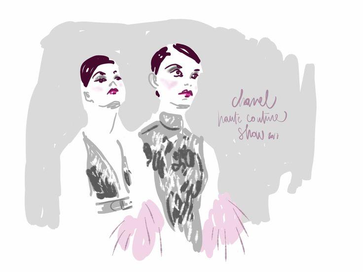 Chanel Haute Couture show at Paris Grand Palais - www.opentoeillustration.com