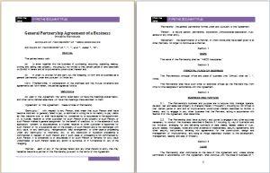 individual partnership agreement template at worddox.org