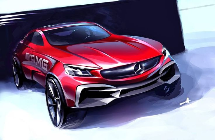 Mercedes AMG design sketch