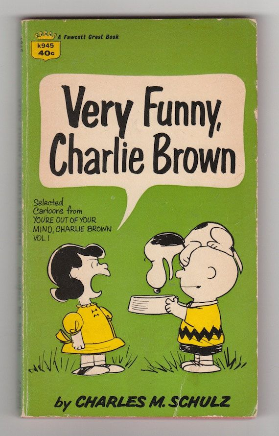 "Vintage 1960s Snoopy paperback book ""Very Funny Charlie Brown"""