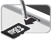 Galaxy Tab S - How do I insert or remove a microSD™ card from my Samsung Galaxy Tab S?
