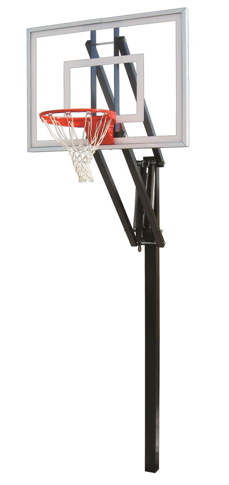 First Team Vector Turbo In Ground Outdoor Adjustable Basketball Hoop 54 inch Tempered Glass from NJ Swingsets