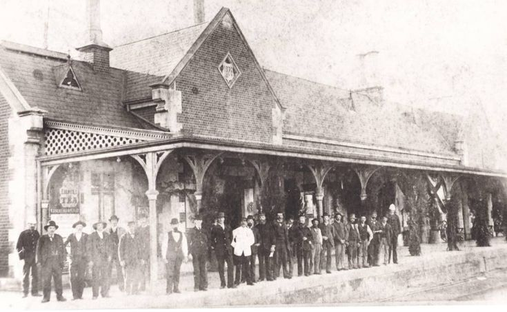 OPEN FOR BUSINESS: It was a day to remember when the Bathurst Railway Station opened in 1876.
