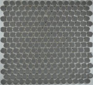 Product ID:MCP130 3/4X3/4 Penny Rnd Dk Grey Glossy #Profiletile