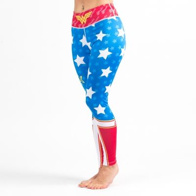 Harness the power of Wonder Woman with these new grappling leggings from Fusion FG! Unfortunately they won't make you a demigoddess or a Amazonian Warrior Princess, but they MAY give you some extra powers in the gym, particularly if you were able to score yourself a lasso of truth, or her bracelets and tiara.  Wonder Woman looks pretty damn good for woman of 75! #wonderwoman #grappling #leggings #tights #spats #dccomics #superheroes #cosplay #crossfit #fitness #catwoman #bjj #yoga