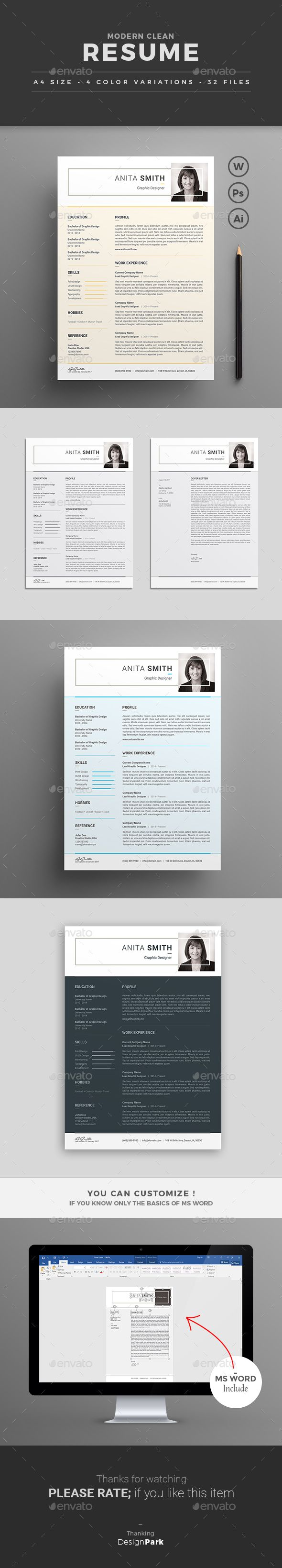 Resume by design park This Modern Clean and
