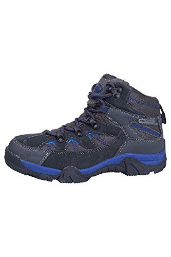 Mountain Warehouse Rapid Waterproof Junior Kids Hiking Boots Blue 5 Child US