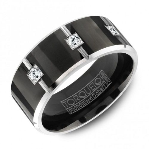 black and silver men s wedding bands