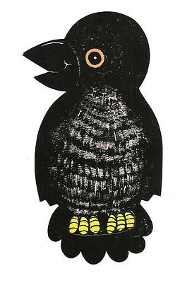 vintage die cut raven crow black bird 75 halloween decoration - Halloween Crows