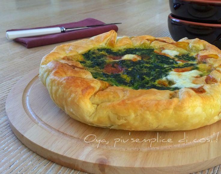 Rustico spinaci e provola, ricetta | Oya