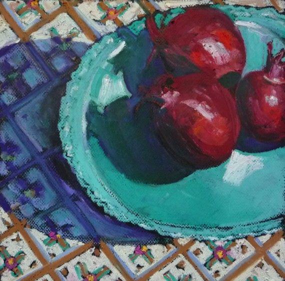 Fruit Painting Pomegranates Original Painting