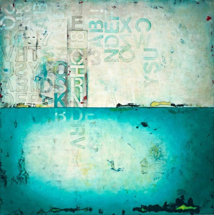 "Conversations-2010-60""x60""-encaustic, pigment sticks, oils on panel. ...kandy lozano"