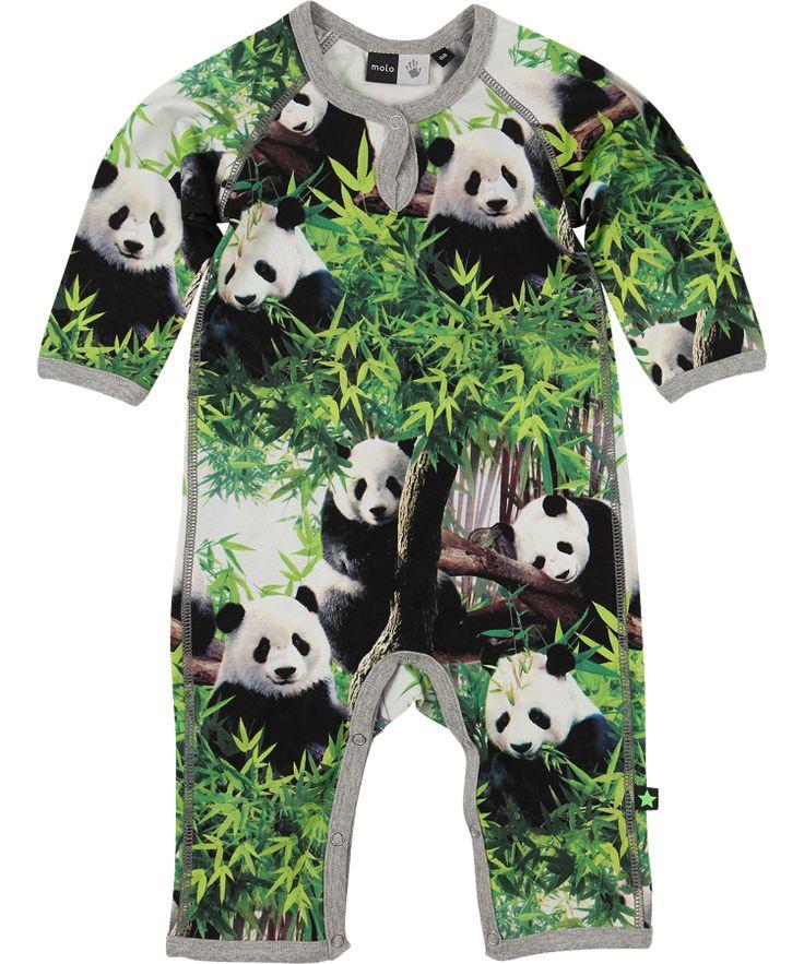 Molo trendy speelpak met coole panda print #emilea