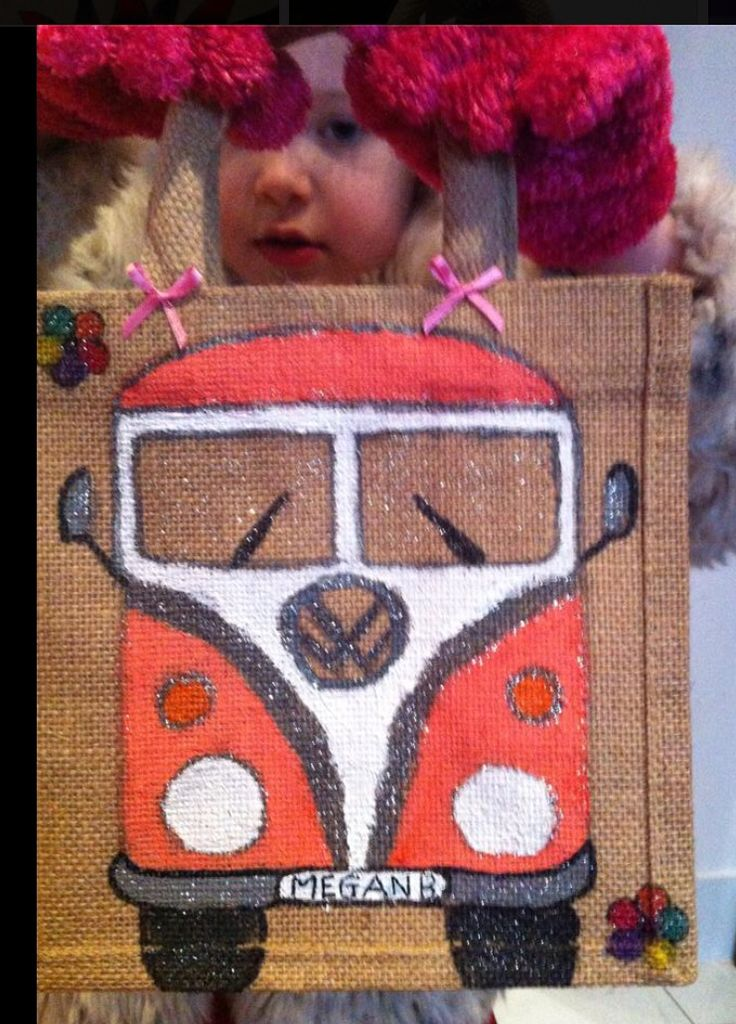 Handmade Canvas mini jute bag ideal for a  lunch bag. Designed by you Personalised by me.