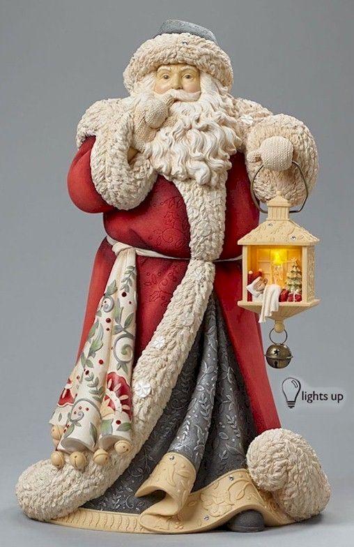 Heart of Christmas Santas by Karen Hahn for Enesco at Fiddlesticks